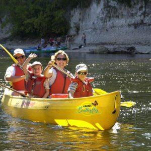 canoe en famille sur la dordogne